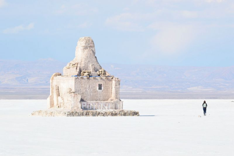 One of the best places to visit in Bolivia is Salar de Uyuni salt flat